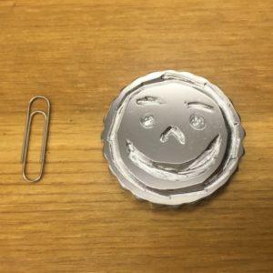 【bebemamaさま】子供と共にロウソクを掘り、一生残る思い出作りとしてメダルにしました。光沢メッキの表面処理は鏡の様にピカピカで、違うデザイン・仕様でも作ってみたくなります。<5×45×45mm/鉄/光沢メッキ ※要相談/プロトタイプ入稿>